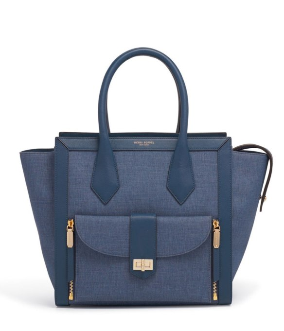 Cool Denim For Fall: Two toned tote | Fall Fashion 2017