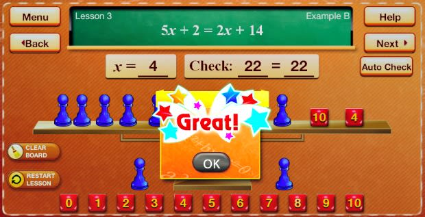 Best Math Apps for Kids - Hands-On Equations 1