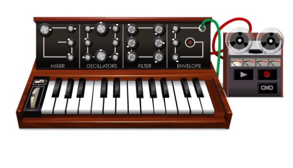 Robert Moog's 78th Birthday Google Doodle