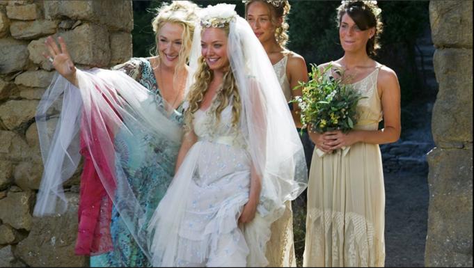 Wedding scene from 'Mama Mia'