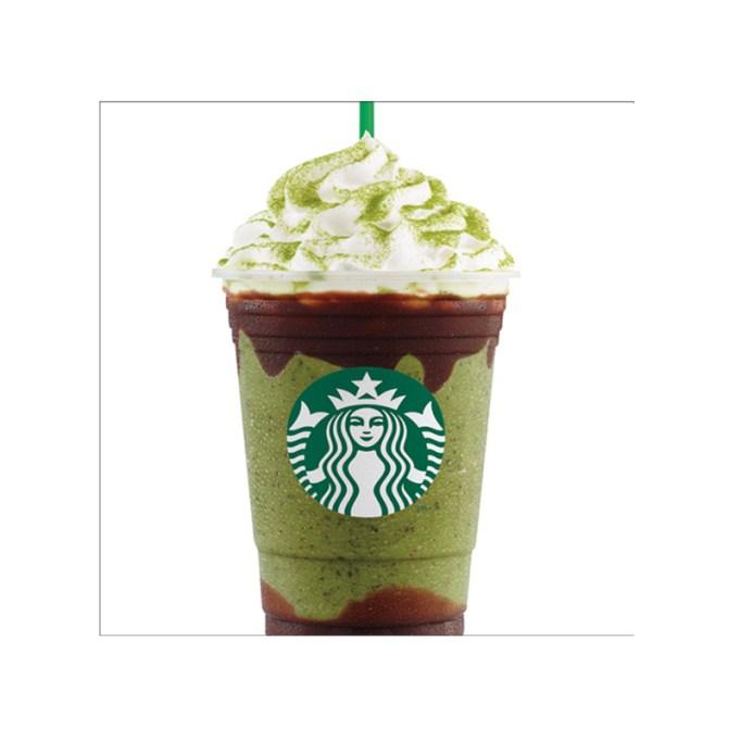 Double Chocolate Green Tea Frappuccino Starbucks