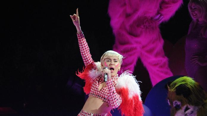 "TV viewers call Miley Cyrus ""disturbing,"""