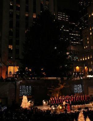 Rockefeller tree donated from Hurricane Sandy