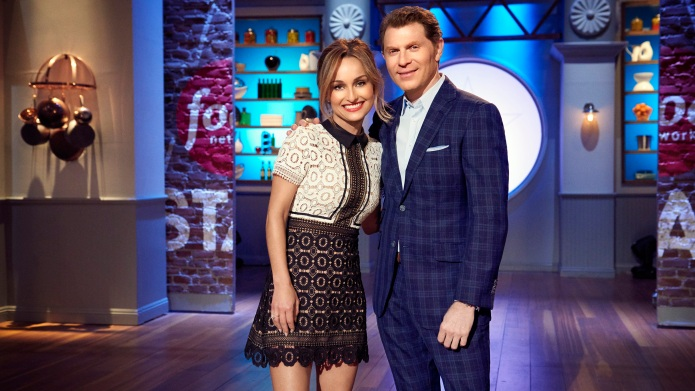 Hosts Giada de Laurentiis and Bobby