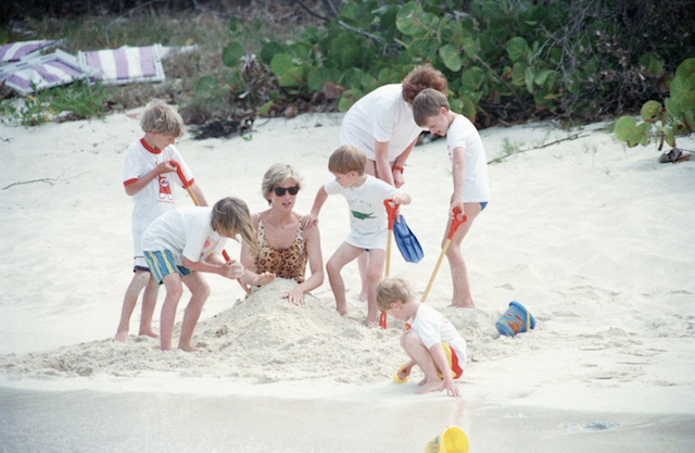 Princess Diana and Prince Harry vacationing in the Virgin Islands