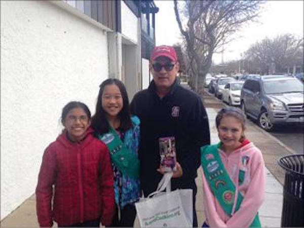 Tom Hanks with fans