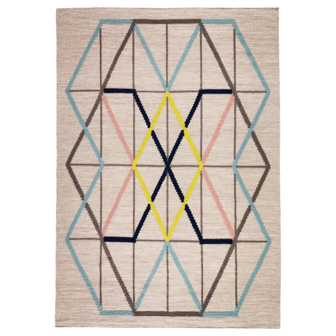 9 Affordable IKEA Rugs: This rug adds geometric flair to any room