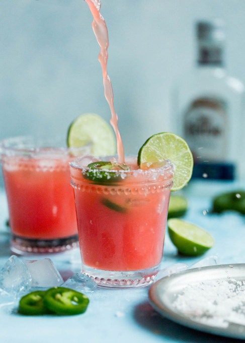 Summer cocktail recipe: Make your summer margaritas with watermelon juice for a refreshing twist on a classic cocktail.