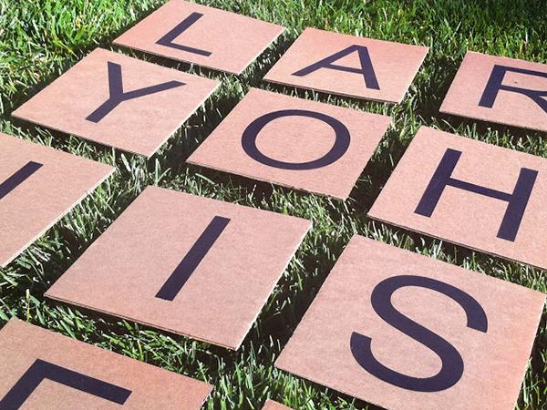 Yard Scrabble game | Sheknows.com