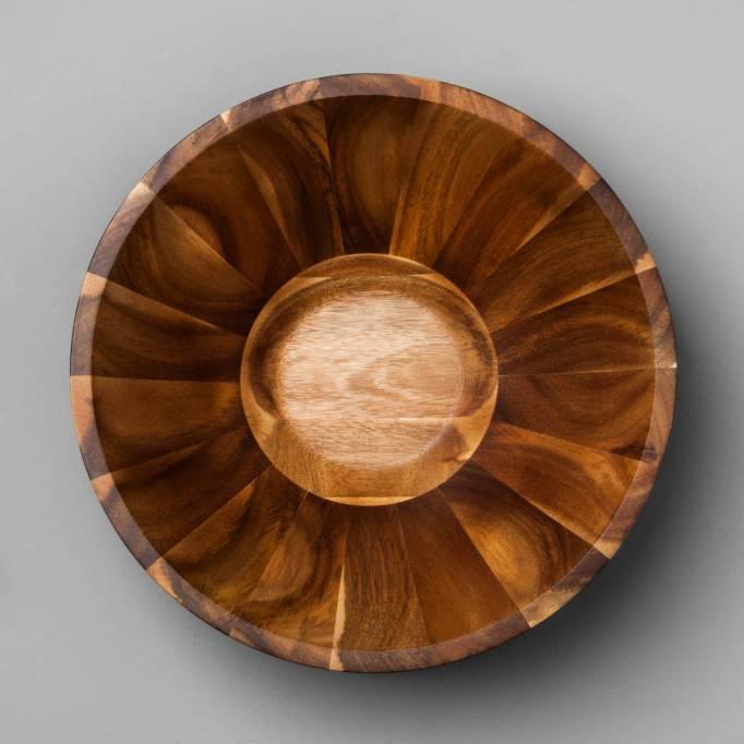 Acacia Wood Serving Bowl Magnolia