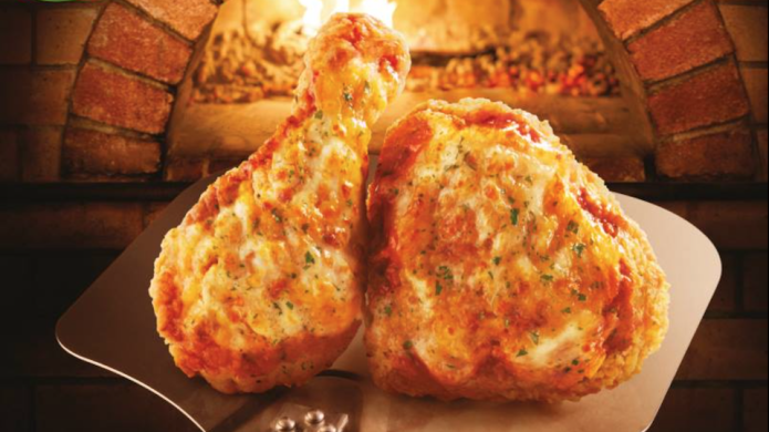 KFC pizza chicken looks like something