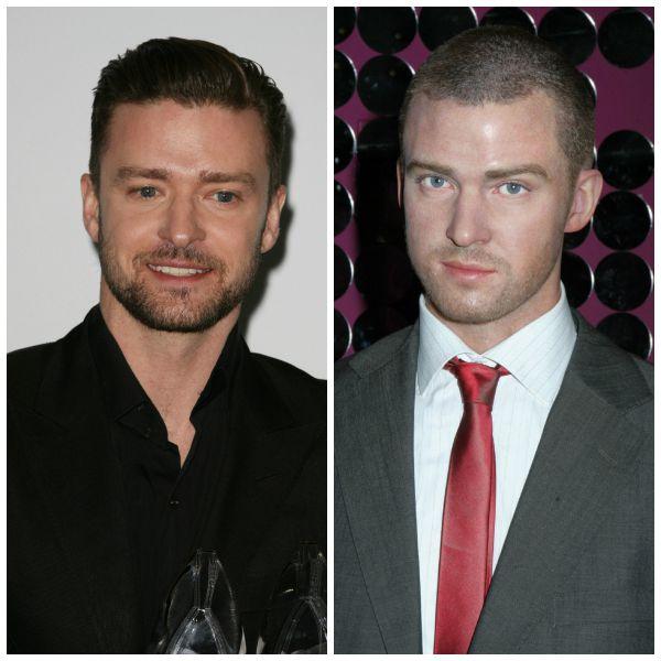 Justin Timberlake and his wax figure