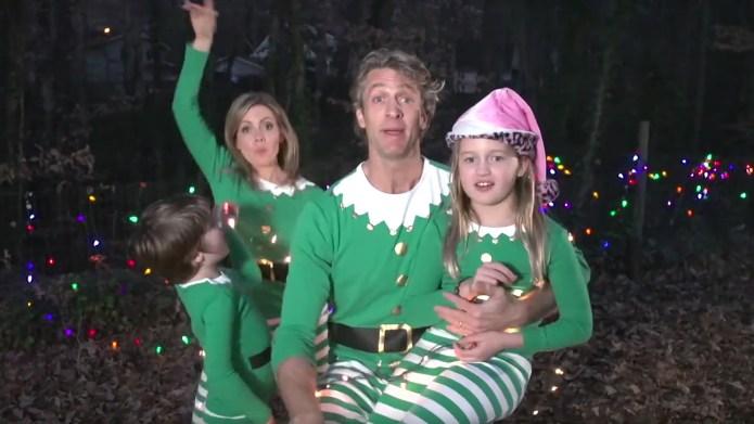 Jammie-wearing Holderness family 'Elfs' America in