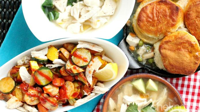 4 Easy meals using leftover chicken