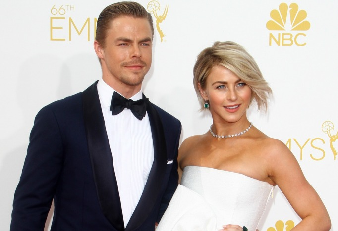 Derek and Julianne Hough at the Emmys