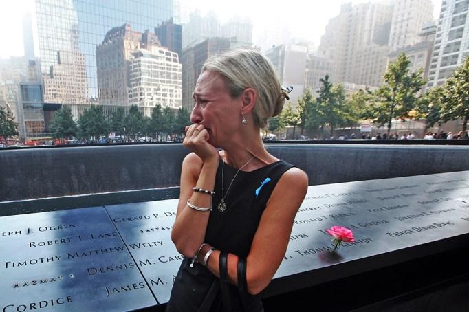 Carrie Bergonia at the 9/11 Memorial