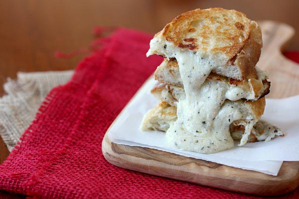 White pizza grilled cheese
