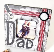 Craft: Collage frame for dad