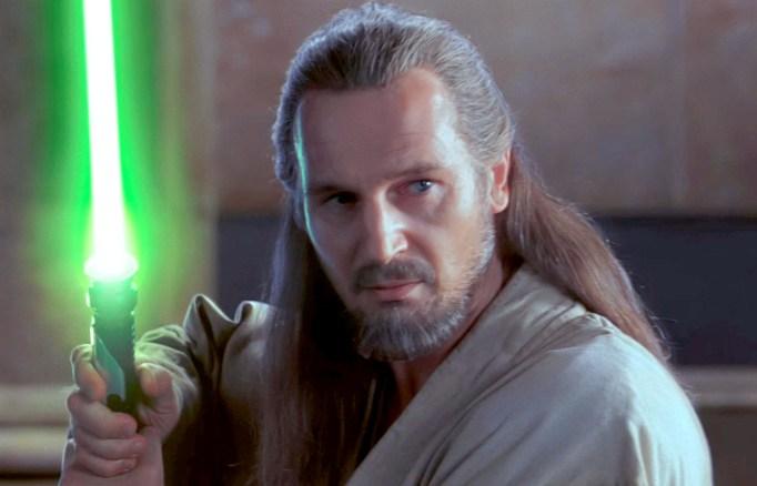 Liam Neeson in Star Wars Phantom Menace