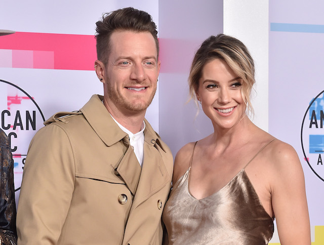 Tyler Hubbard and wife Hayley Stommel arrive at the 2017 American Music Awards