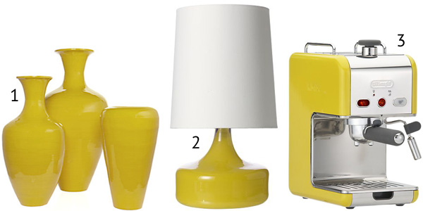 Yellow decor --functional pieces