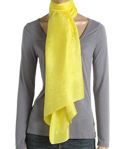 Versace Yellow Silk Scarf