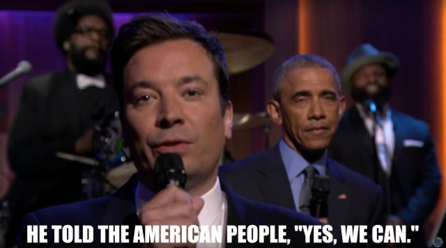 President Obama and Jimmy Fallon slow jam the news