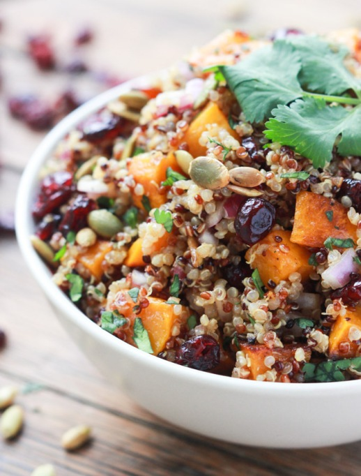 15 Healthy grain bowls to whip together: Butternut squash and cranberry quinoa salad | Fall Eating 2017