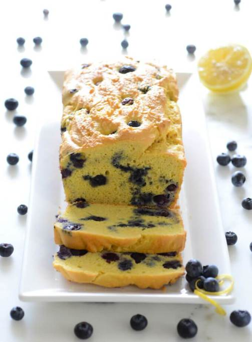 Easy Keto Blueberry Muffin Loaf