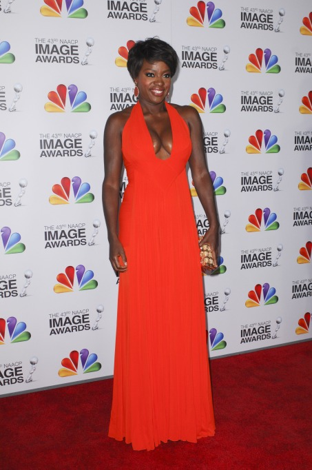 Viola Davis's red carpet looks: 2012 NAACP Awards