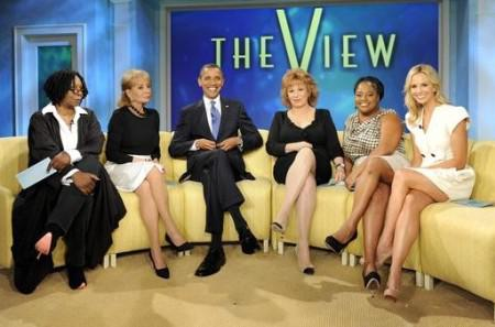 President Barack Obama visits The View