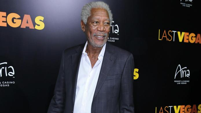 VIDEO: Morgan Freeman & his trademark