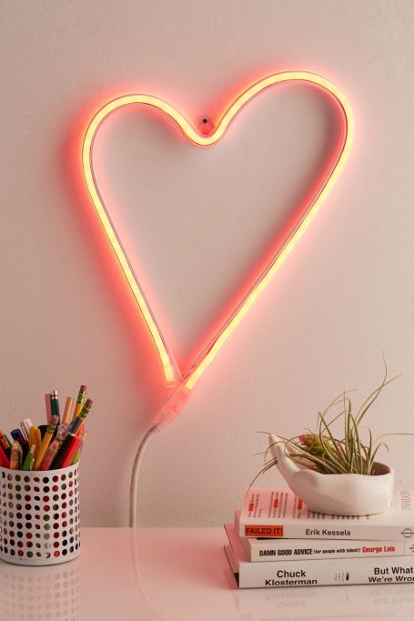 Fall Decor Trends on Pinterest: Neon signs look great in dorm rooms.