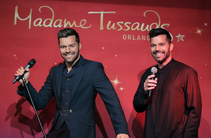 Ricky Martin and his wax figure