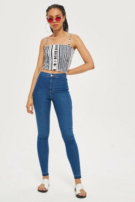 MOTO Blue Let Hem Joni Jeans
