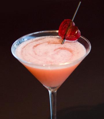 Valentine's Day martini menu