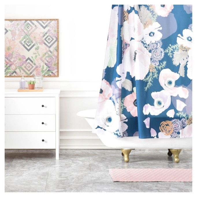 Khristian A Howell Une Femme Floral Shower Curtain