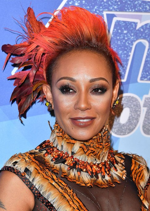 Best Celebrity Hair Transformations of 2017: Mel B's short, multi-colored coif