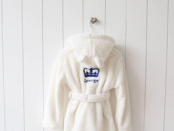 Prince George mania! The bathrobe he