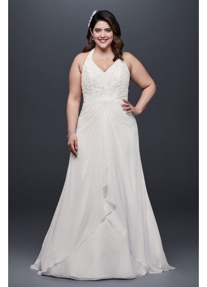 Chiffon Halter A-Line Wedding Dress