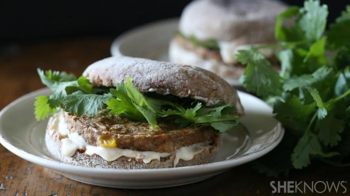 Chickpea and butternut squash patties make
