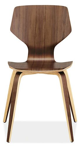 Pike chair with wood base
