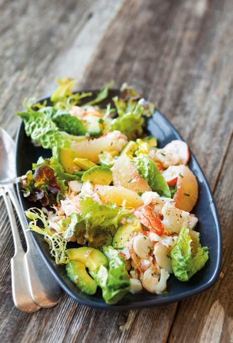 Yummy Winter Salads You'll Actually Crave   Lobster Salad with Grapefruit and Avocado