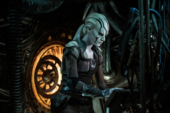 Sofia Boutella as Jaylah in Star Trek Beyond