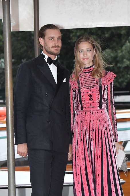 Pierre Casiraghi and Beatrice Casiraghi are seen during the 74th Venice Film Festival