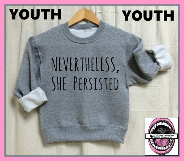 Feminist Tops for Kids | Nevertheless, She Persisted