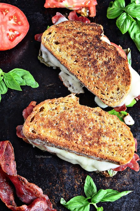 Sandwiches and Wraps for a Healthy Lunch | Turkey Bacon and Avocado Grilled Cheese
