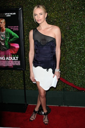 Charlize Theron at the Los Angeles premiere of the Young Adult movie