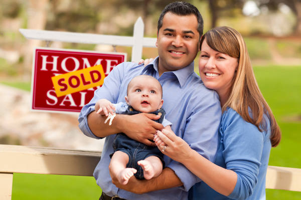 Young family buying a home