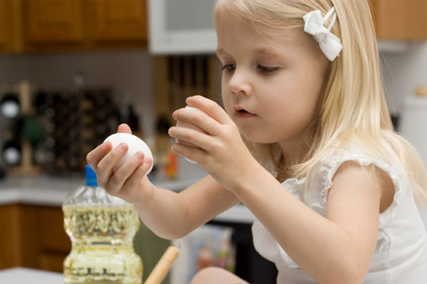 Young Girl Making Cookies